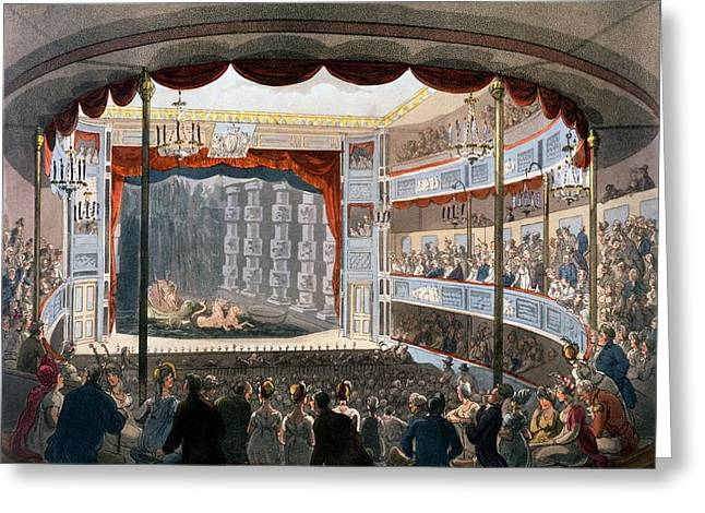 Sadlers Wells, From Ackermanns Greeting Card by T. & Pugin, A.C. Rowlandson
