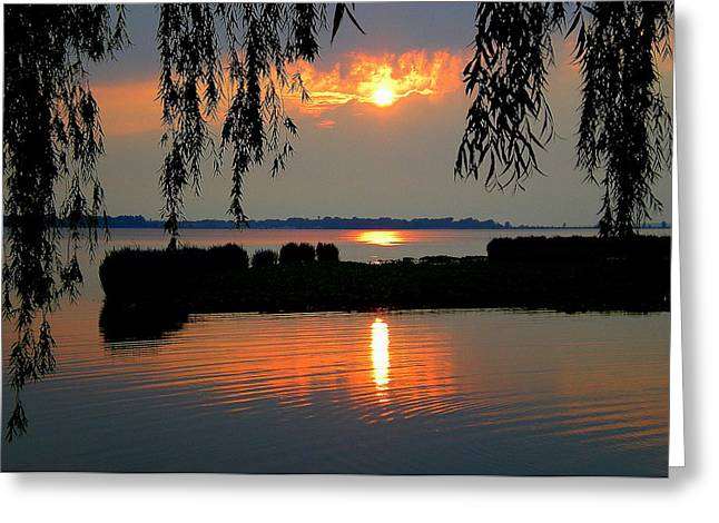 Sadness At Days End Greeting Card by Frozen in Time Fine Art Photography