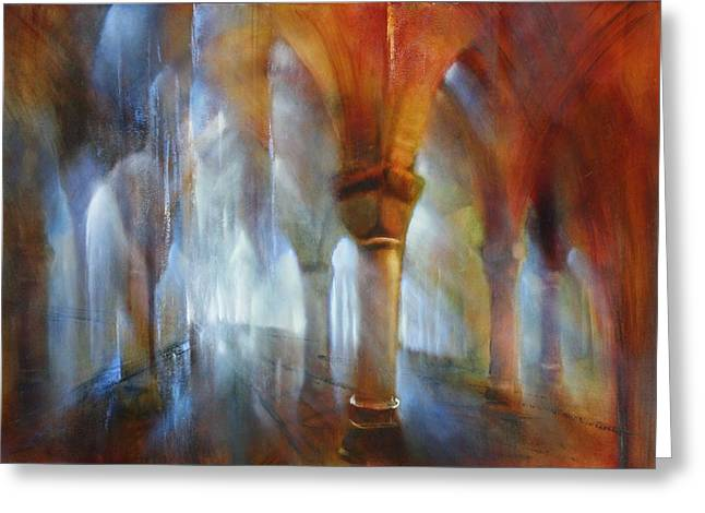 Saeulenhalle Greeting Card by Annette Schmucker