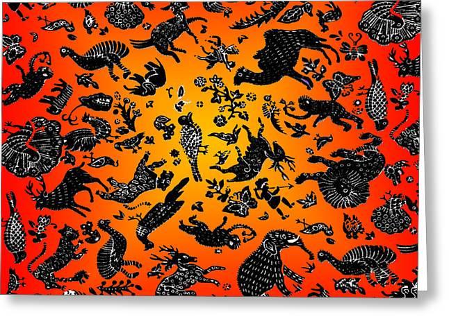 Safari Pattern 3 Greeting Card by John Keaton