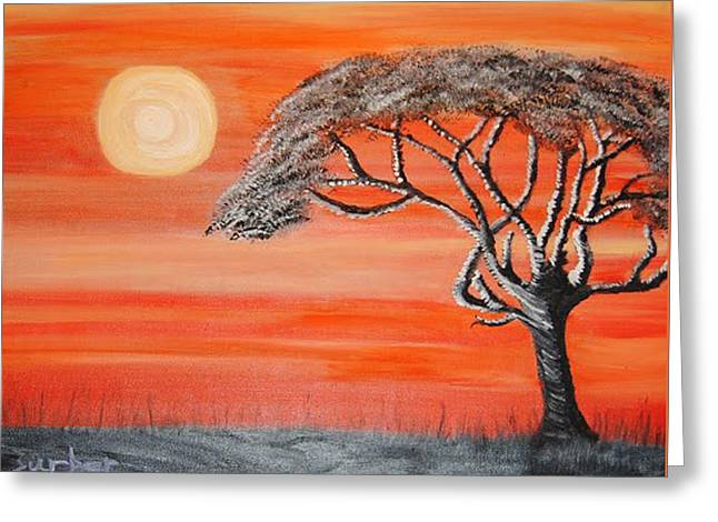 Safari Sunset 2 Greeting Card