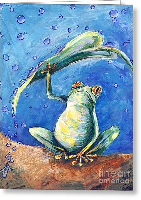 Safe From The Rain Greeting Card