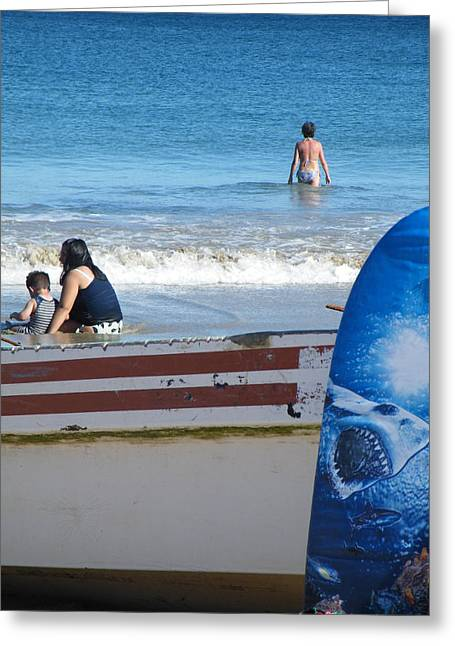 Greeting Card featuring the photograph Safe To Go In The Water by Brian Boyle