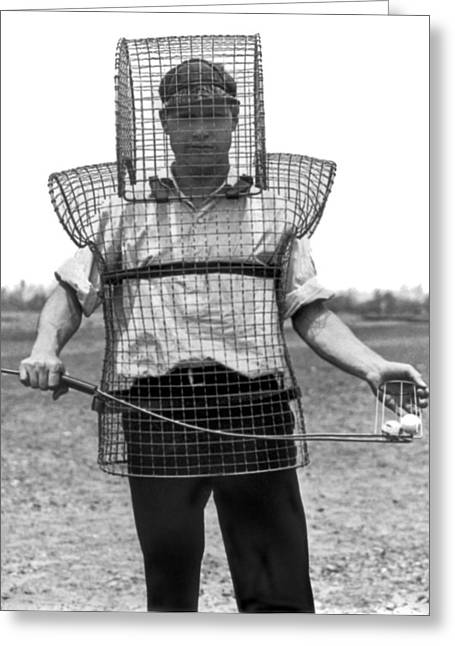 Safety Cage For Caddies Greeting Card