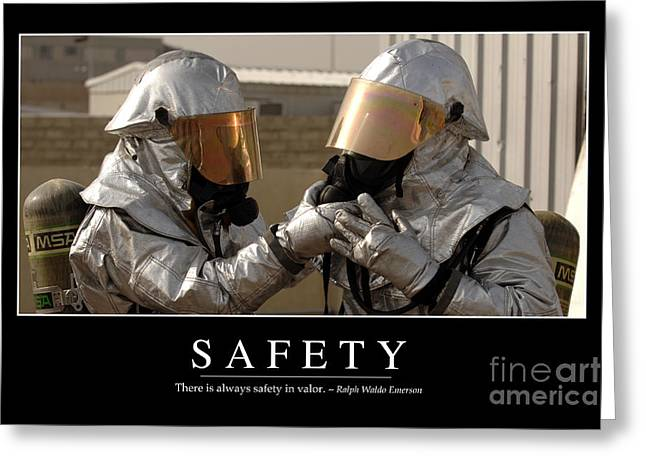 Safety Inspirational Quote Greeting Card by Stocktrek Images