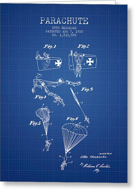 Safety Parachute Patent From 1925 - Blueprint Greeting Card