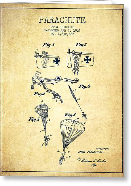 Safety Parachute Patent From 1925 - Vintage Greeting Card