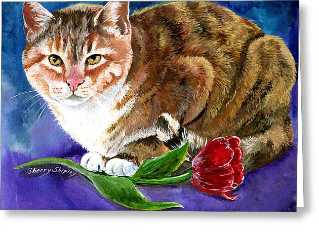 Saffron Greeting Card by Sherry Shipley