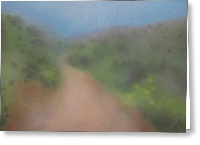 Sagebrush And Coastal Fog Greeting Card by Robin Street-Morris