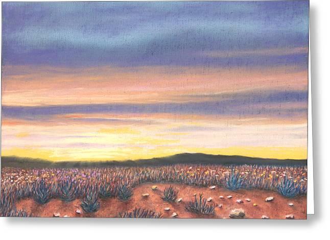 Sagebrush Sunset B Greeting Card