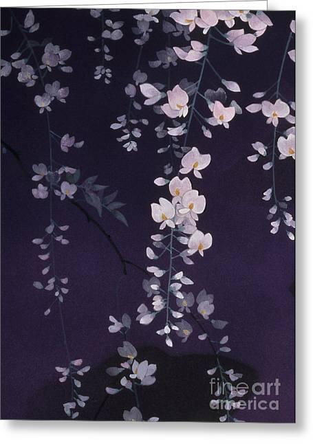 Sagi No Mai Crop II Greeting Card by Haruyo Morita