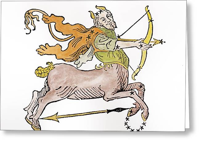 Sagittarius An Illustration Greeting Card by Italian School