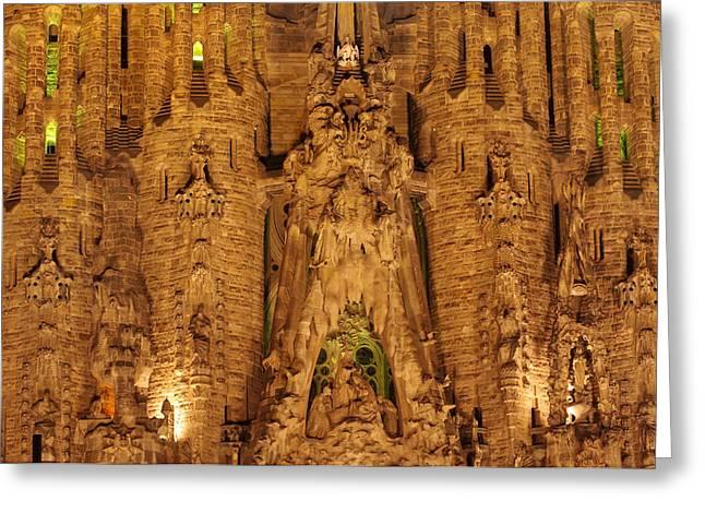 Sagrada Familia Greeting Card by Ioan Panaite