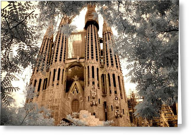 Sagrada Familia Greeting Card by Jane Linders