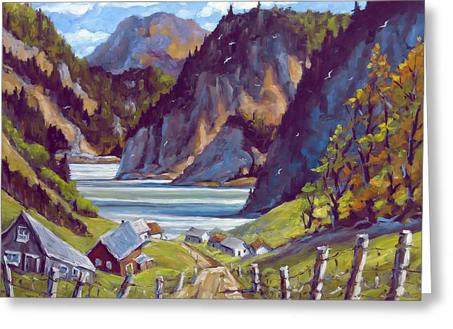Saguenay Summer By Prankearts Greeting Card by Richard T Pranke