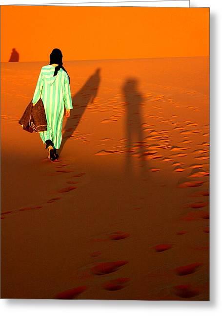 Sahara Desert Bedouin Greeting Card by Arie Arik Chen