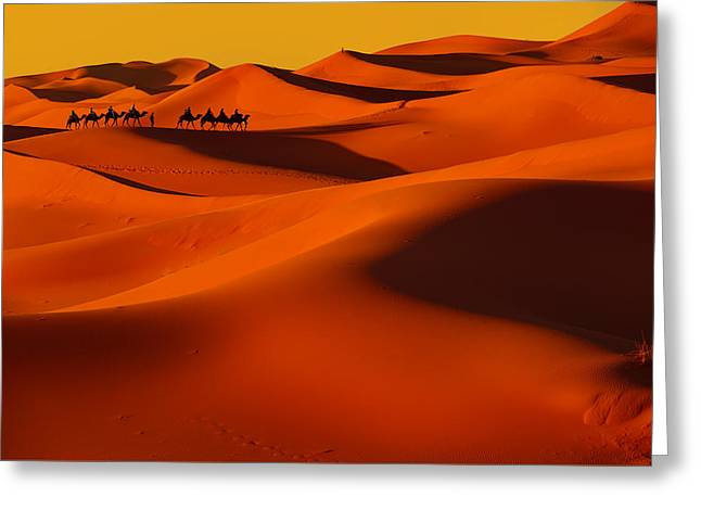 Sahara Story Greeting Card