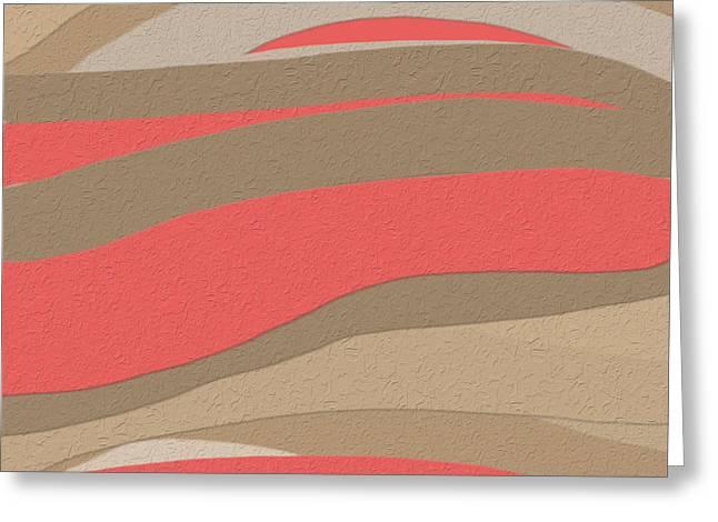 Sahara Sunset Greeting Card by Bonnie Bruno