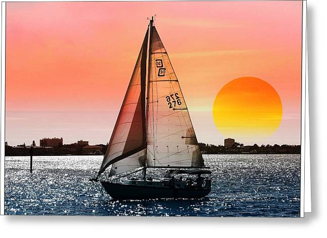 Sail Away With Me Greeting Card by Athala Carole Bruckner