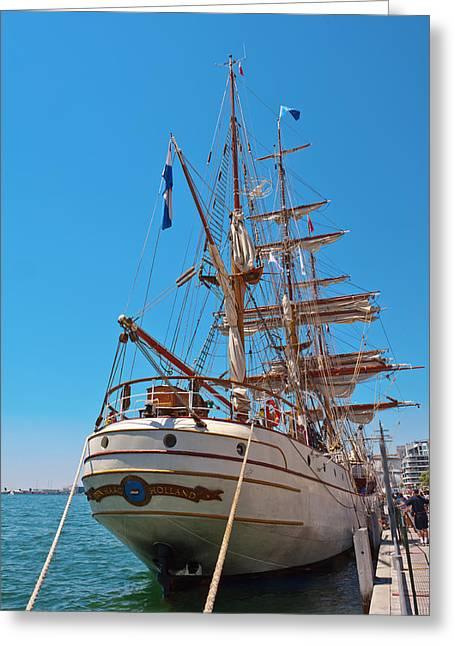 Sail Boat Greeting Card by Marek Poplawski