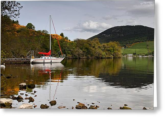 Sail Boat On Loch Ness Greeting Card