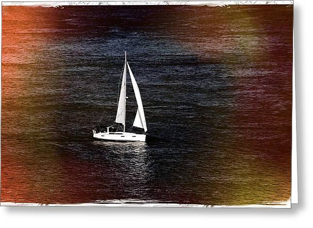 Sail Boat - Photograph Fine Art Print Greeting Card by Laura Carter