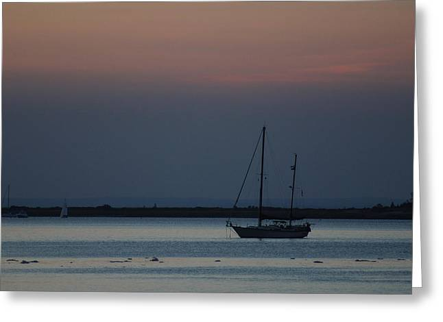 Sail Boat Port Jefferson New York Greeting Card