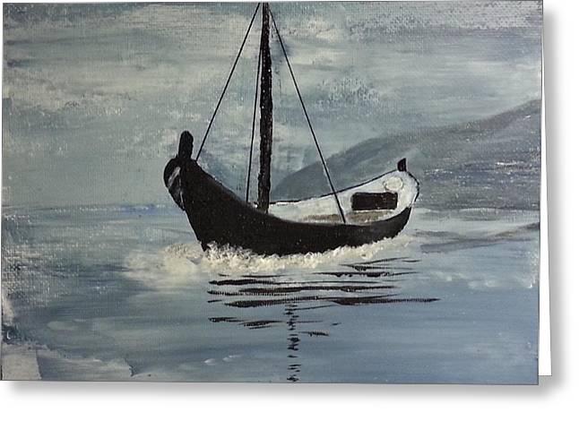 Sail-boat Greeting Card by Susanne Baumann