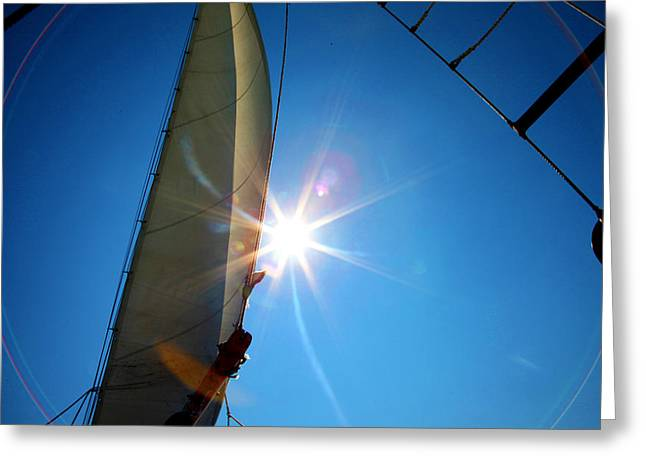 Sail Shine By Jan Marvin Studios Greeting Card