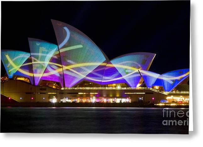 Sail Streamers - Sydney Vivid Festival - Sydney Opera House Greeting Card