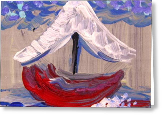 Greeting Card featuring the painting Sail Travel by Mary Carol Williams