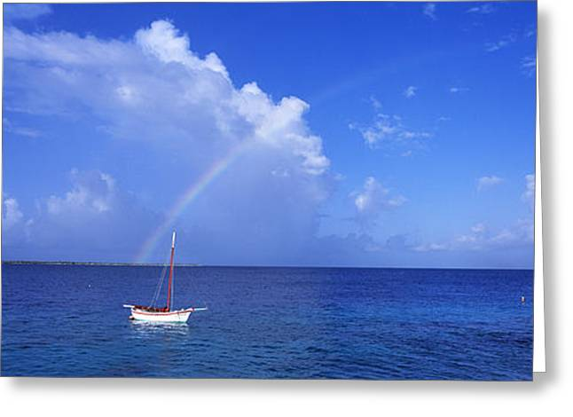 Sailboat Bonaire Netherlands Antilles Greeting Card by Panoramic Images