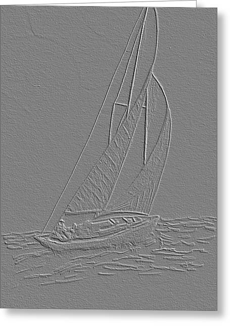 Sailboat Greeting Card by Dusty Reed