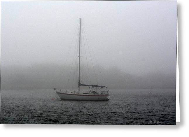 Sailboat In The Fog Greeting Card
