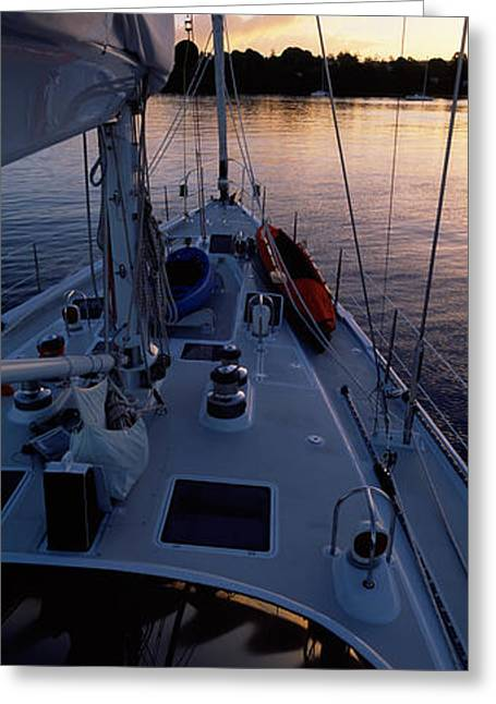 Sailboat In The Sea, Kingdom Greeting Card by Panoramic Images