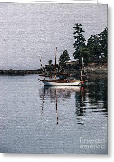 Sailboat In Watercolor Greeting Card by Robert Bales