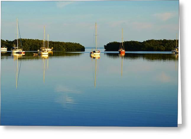 Sailboat Lagoon Greeting Card