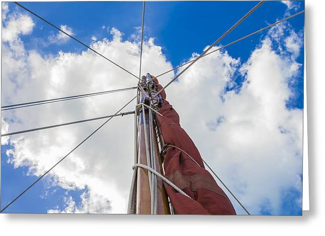 Greeting Card featuring the photograph Sailboat Mast 1 by Leigh Anne Meeks