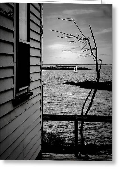 Sailboat Off Star Isle Greeting Card