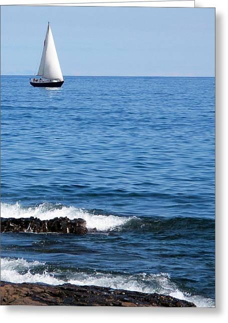 Sailboat On Superior Greeting Card