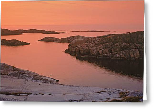 Sailboat On The Coast, Lilla Nassa Greeting Card by Panoramic Images