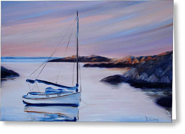 Sailboat Reflections I Greeting Card by Donna Tuten