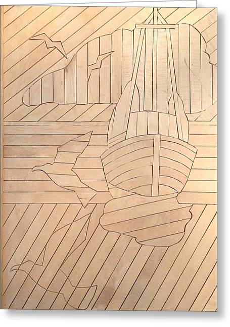 Sailboat Greeting Card by Stan Tenney