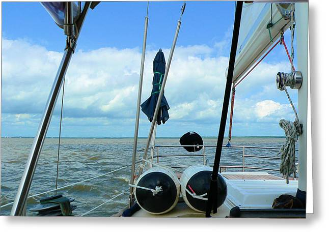 Sailboat View Horizontal Greeting Card