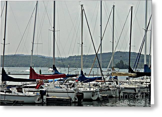 Sailboats Greeting Card by Pics by Jody Adams