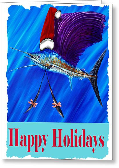 Sailfish Card Greeting Card by Steve Ozment