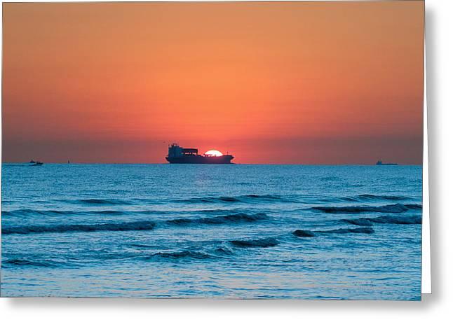 Sailing Across The Sun Greeting Card