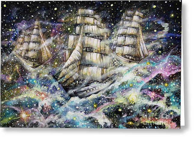 Sailing Among The Stars Greeting Card