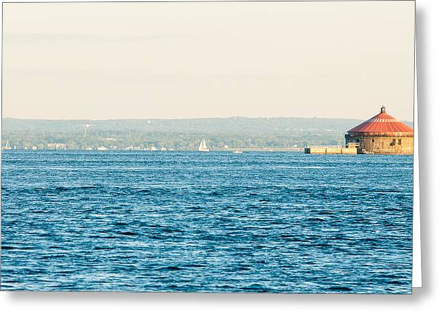 Sailing Around The Pump House Greeting Card