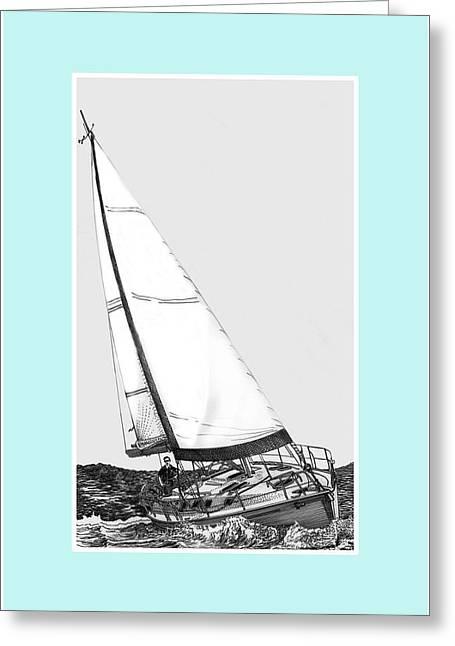 Sailing Blue Greeting Card